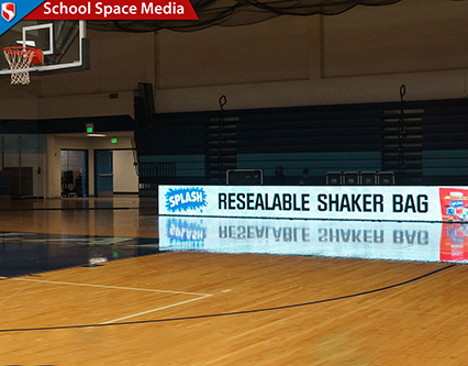 Splash Dasherboard at Youth Basketball Game