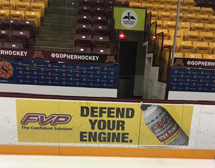 FVP Ad at Gophers Hockey Game