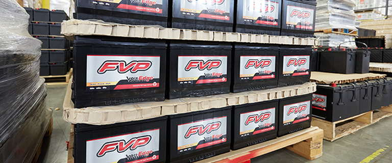 FVP Batteries in Warehouse